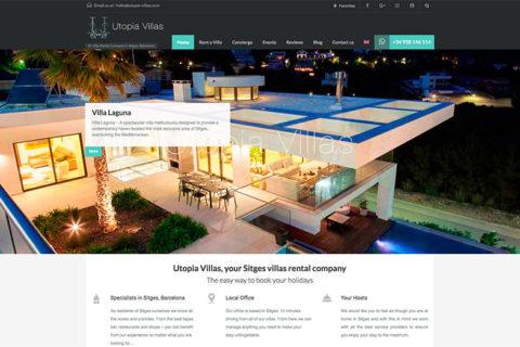 Utopia Villas – Página web y central de reservas